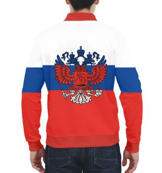 Мужской Бомбер Триколор и герб