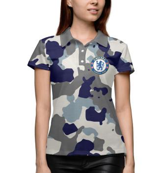 Женское Поло FC Chelsea Camouflage