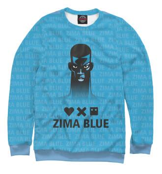 Женский Свитшот Любовь, смерть и роботы zima blue