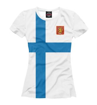 Женская Футболка Сборная Финляндии