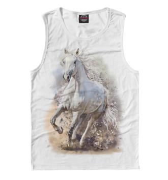 Мужская Майка Белая лошадь