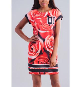 Женское Платье летнее Розы