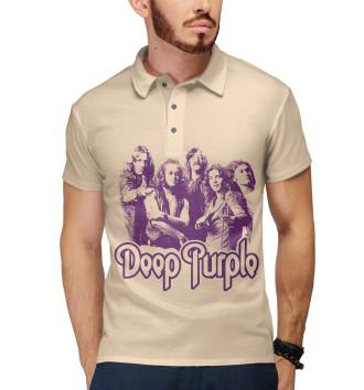Мужское Поло Deep Purple