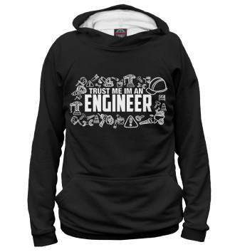 Мужское Худи Trust me I am an Engineer