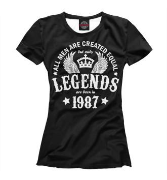 Женская Футболка 1987 - рождение легенды