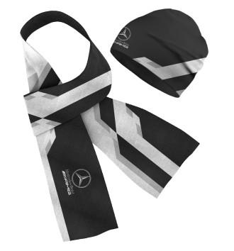 Шапка и шарф Mersedes-Benz AMG