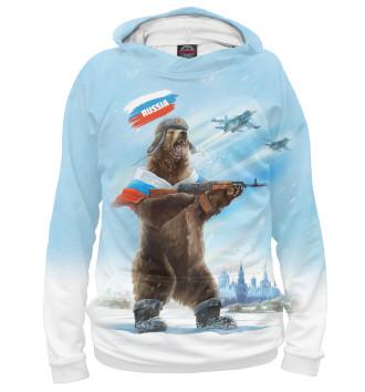 Мужское Худи Русский медведь с калашом