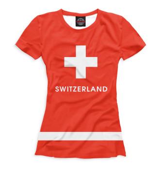 Женская Футболка Сборная Швейцарии