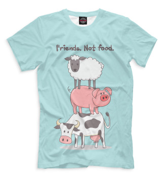 Мужская Футболка Friends. Not food.
