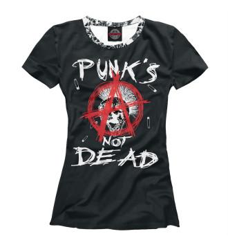 Женская Футболка Punk's Not Dead