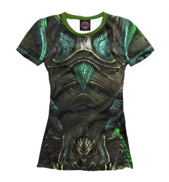 Женская Футболка Glass armor