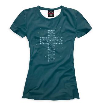 Женская Футболка Крест