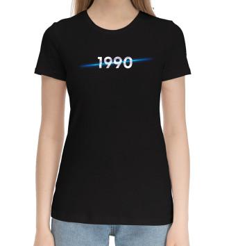 Женская Хлопковая футболка Год рождения 1990