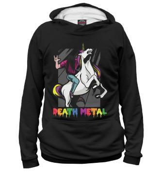 Женское Худи Death Metal Unicorn