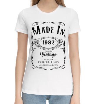 Женская Хлопковая футболка 1982