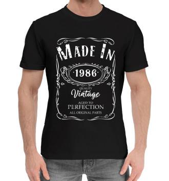 Мужская Хлопковая футболка 1986