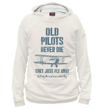 Мужское Худи Старые пилоты не умирают