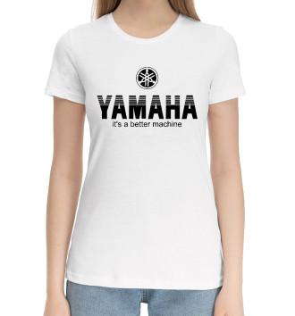 Женская Хлопковая футболка Yamaha