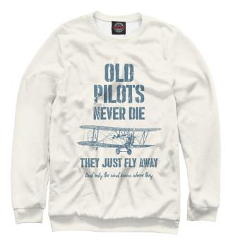 Мужской Свитшот Старые пилоты не умирают