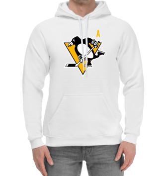 Мужской Хлопковый худи Малкин Форма Pittsburgh Penguins 2018