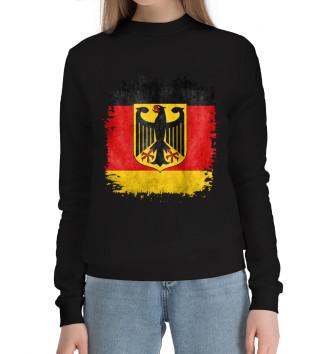 Женский Хлопковый свитшот Флаг Германии