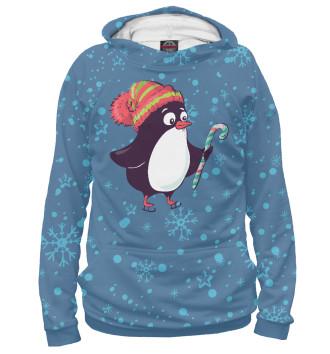 Женское Худи Пингвин