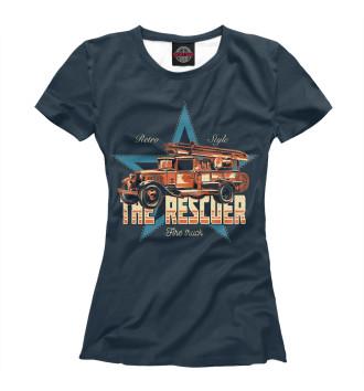 Женская Футболка Старая пожарная машина