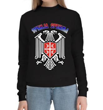 Женский Хлопковый свитшот Сербия