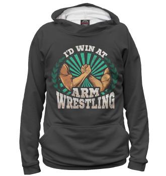 Женское Худи I'd Win At Arm Wrestling
