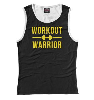 Женская Майка Workout warrior