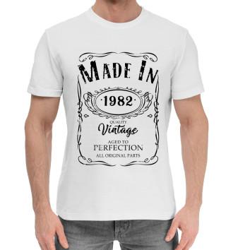 Мужская Хлопковая футболка 1982