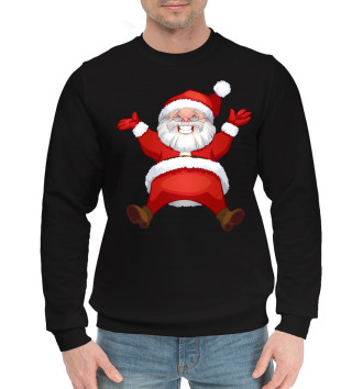 Мужской Хлопковый свитшот Санта в золоте