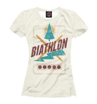Женская Футболка Biathlon