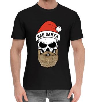 Мужская Хлопковая футболка Bad Santa