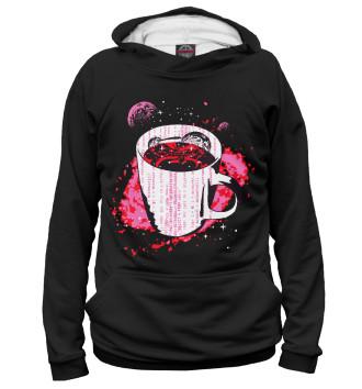 Женское Худи Космический кофе