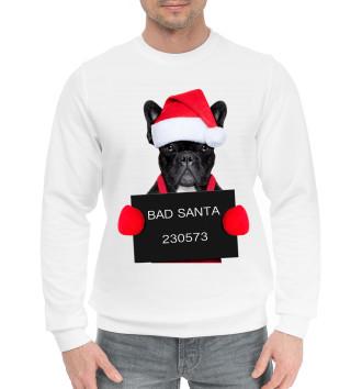 Мужской Хлопковый свитшот Плохой Санта