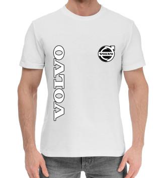 Мужская Хлопковая футболка Volvo blue fire