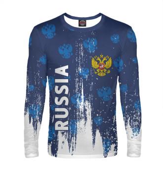 Мужской Лонгслив Russia / Россия