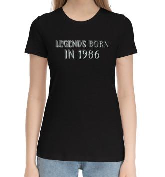Женская Хлопковая футболка 1986