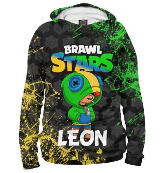 Мужское Худи Brawl Stars Leon