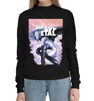 Женский Хлопковый свитшот Heavy metal