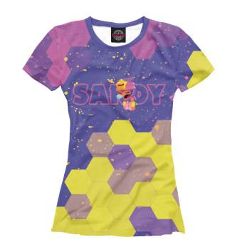Женская Футболка Brawl Stars Sandy / Сэнди