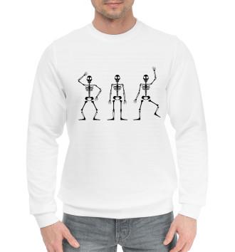 Мужской Хлопковый свитшот Скелеты