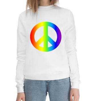 Женский Хлопковый свитшот Peace