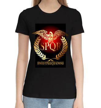 Женская Хлопковая футболка SPQR