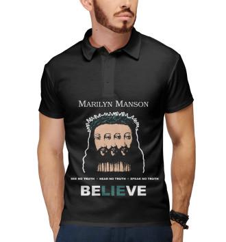 Мужское Поло Marilyn Manson