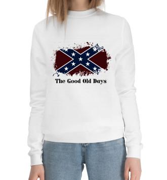 Женский Хлопковый свитшот Старые времена Конфедерации