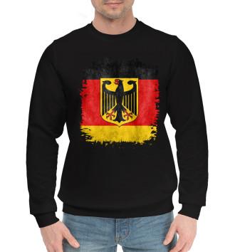 Мужской Хлопковый свитшот Флаг Германии