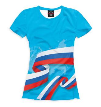 Женская Футболка Флаг