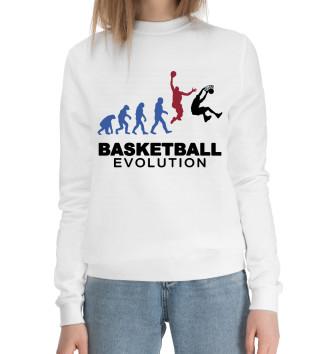 Женский Хлопковый свитшот Эволюция баскетбола
